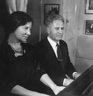 Karl and Vally Weigl at piano